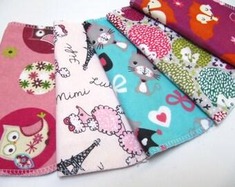 Cloth Napkins, 5 Girls Animal Napkins, Unpaper Cloth Napkins, Lunchbox Napkins, Paper Napkin Replacements, Back To School