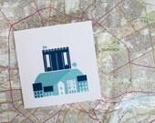 Micro Norwich Castle Greetings Card