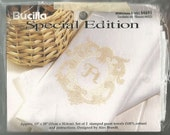Bucilla Special Edition Cross Stitch Guest Towels Monogram KIT