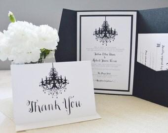 Chandelier invitation set