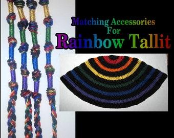 Rainbow (Noah's Covenant) Tallit's matching Tzitizts