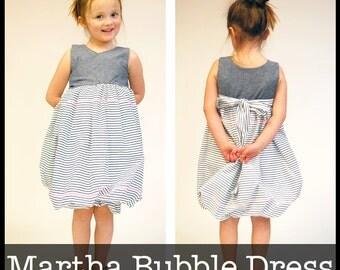 Martha Bubble Dress PDF sewing pattern