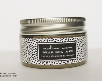 Luxury Natural Skincare Regimen including Dead Sea Mud Masque Shea butter face cream and natural eye serum