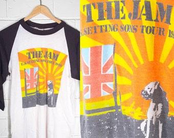 Vintage The Jam Raglan Tee Setting Sons Tour 1981 Rare Authentic Tour Merch Small