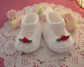 CROCHET Baby Shoes PATTERN - Little Lilly Baby crochet Shoes Pattern ballerina for babies girls pdf pattern Instant Download