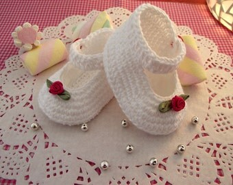 CROCHET BABY Shoes PATTERN - Little Lilly Baby crochet Shoes Pattern for babies girls crochet ballerina pdf pattern Instant Download