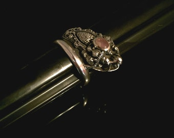 Vintage Chinese Dragon Sterling Silver Ring   Dragon Ring  Unisex Ring Amethyst Ring