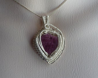 Sterling silver and Ruby pendant