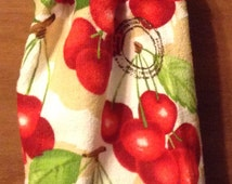 Crocheted Hand Towel cherries