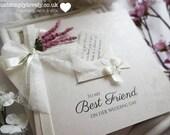 Stunning Vintage Ivory & Lilac Wedding Card (Best Friend)