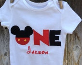 Mickey Mouse One Piece, 1st Birthday Mickey Mouse Outfit , Mickey Mouse Birthday Outfit