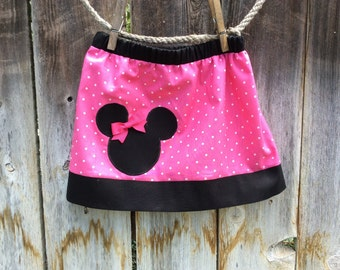 Minnie Mouse Skirt in Hot Pink