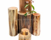 Rustic Log Display Stand Set, Solid Wood Photo Props, Jewelry Display for Etsy Sellers, Wood Slab Rounds, Rustic Wedding Table Decorations