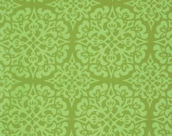Ginger Snap by Heather Bailey for Free Spirit - Snowflake - Green - 1/2 yard cotton quilt fabric 516