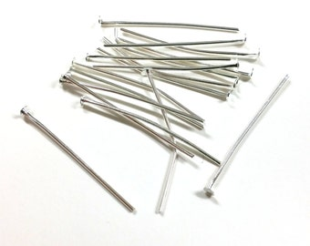 150 PCS - 30MM Headpin Platinum Jewelry Finding C0927