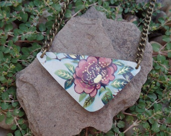 Shakta Flower // Recycled Tin // Upcycled Vintage Jewelry