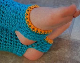 Kids crimson blue and orange yoga socks, dance leg warmers, kid socks, dance socks, yoga leg warmers
