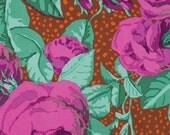 1/2 Yard Kaffe Fassett 100% Cotton Quilt Fabric - August Rose - Magenta