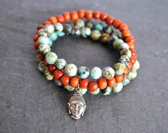 SANDALWOOD STERLING SILVER Buddha yoga bracelet
