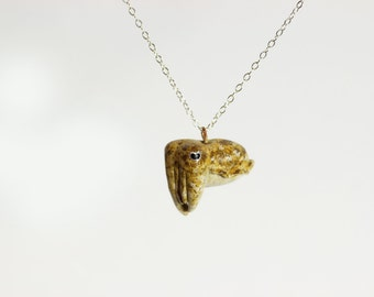 Tiny Cuttlefish Necklace - Made to Order