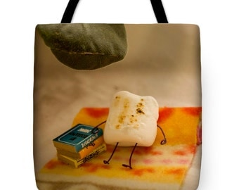 Tote Bag - Tanning Beach Marshmallow