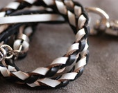 Twisted leather strap Perfect for Leather Purse Straps, Leather bag strap, Wallet chain