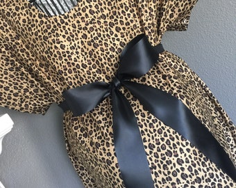 Maternity Hospital Gowns - Leopard Print