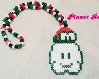 Lakitu Perler Kandi Necklace - Nintendo - Mario - Ready to Ship