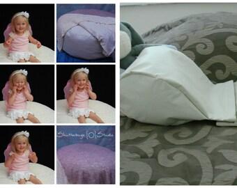 "LARGE Newborn Posing Pillow (40"" x 24"") and Angel Wing Posing Set"