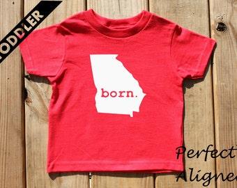 Georgia Home State BORN Unisex Toddler T-shirt - Baby Boys or Girls
