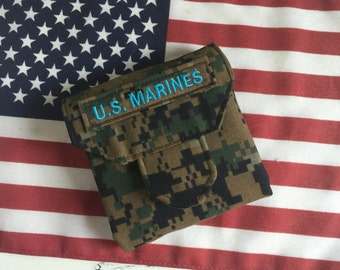 Military Tri Fold Mini Wallet with 2 Clear ID Slots