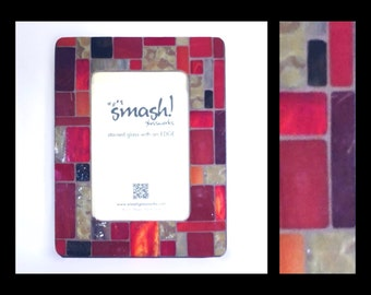 Pastiche: Embers - 4x6 Stained Glass Mosaic Picture Frame
