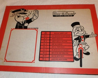 Complete Set Of 1966 Walt Disney Bicycle Safety Posters