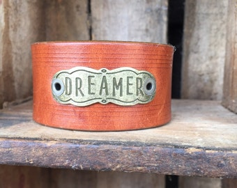 Dreamer ~ leather cuff