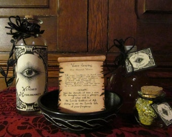 """Hydromancy ~ """"Scrying Collection"""" ~ CHARGED, Full moon, blessed, crystals, altar, ritual, magick, spells, apothecary, scrying, divination"""