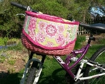 BUILD YOUR OWN Custom Bicycle Basket With Quilted Liner