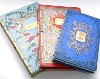 Wedding Guest Book Ideas, Boho Scrapbook, Photo Guestbook, Honeymoon Scrapbook, Custom Journal, Personalized Upcycled Vintage