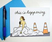 PRINTABLE: This is Happening - Funny Bridesmaids Card - Blank 5x7 - Instant Download