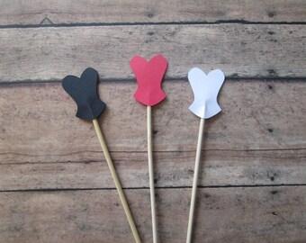 Corset Drink Stirrers- Stir Sticks, Drink Stirrers, Coffee Bar, Bridal showers, Bachelorette Party