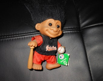1980's Troll Doll - Baltimore Orioles baseball player - new with tags - Russ norfin