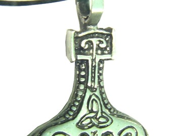 Thor's Hammer Necklace Pewter Pendant Viking Mjollnir Norse Odin 1851B
