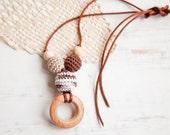 SALE Petite juniper ring nursing pendant -  Sling Accessory - breastfeeding necklace - nursing necklace -  babywearing