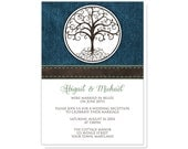 Tree of Life Reception Only Invitations and RSVP - Rustic Tree of Life and Denim - Printed Invitations
