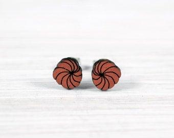 dandelions earrings wood copper