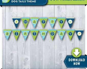 Frogs Snails and Puppy Dog Tails Party Banner   Printable Birthday Party Decorations   Boy or Girl   Instant Download