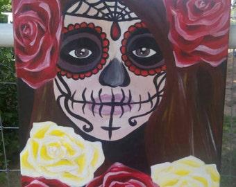 Dia de los muertos Original Acrylic Painting