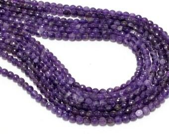 "GU-3044-2 - Amethyst Faceted Round Beads - 6mm - Gemstone Beads - 16"" Full Strand"