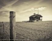 Oregon Print | Black and White | Abandoned Schoolhouse | Oregon Photography | Travel Photograph | Oregon Landscape