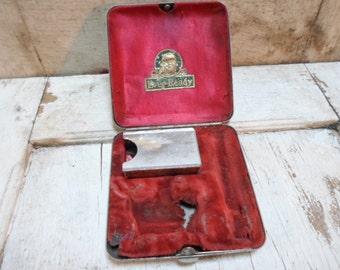 Razor Storage Box, Tin Box, Industrial Storage, Ever Ready Tin, Hinged, Shaving Supplies, Vintage Shaving, Razors, Safety Razors, Props
