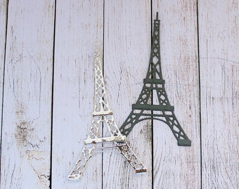 Eiffel Tower Die Cuts Embossed France Paris Card Making Scrapbooking Tags DIY Set of 6 pcs